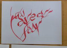 AYARACHI, Ruth  TP#2 Textura / Caligrafía gestual - Tipografía III Expresiva - FAD - UNCuyo
