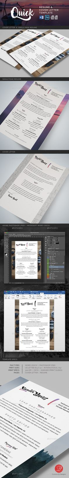 Resume Word Bundle Resume words, Template and Font logo - quick resume