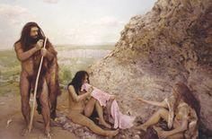 Жил себе доисторический человек в пещере. Пришла к нему как-то женщина и…