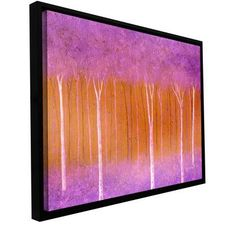 "ArtWall 'Cotton Candy Forest' by Herb Dickinson Framed Painting Print on Wrapped Canvas Size: 18"" H x 36"" W"