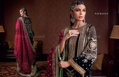 Indian Outfits, Indian Clothes, Dress With Shawl, Velvet Suit, Velvet Dresses, Sari, Fancy, Shawls, Pakistani