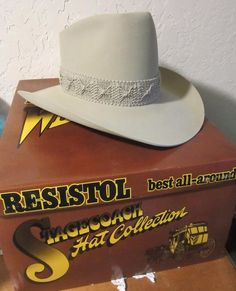 363a7b1b6560d Resistol Silver Belly Elkhorn Cowboy Hat Long Oval 7-1 4 Stagecoach  Collection