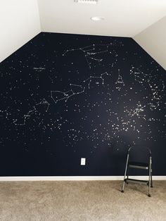 her parents painting the galaxy on her wall to her help learn it - OAB