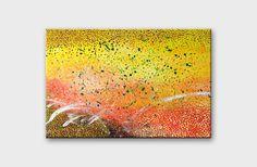 Yellow wall art paintings Yellow home decor Abstract by artbyasta