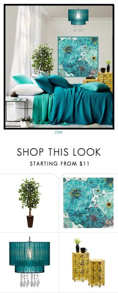 """""""Comfy Bedroom"""" by talvadh ❤ liked on Polyvore featuring interior, interiors, interior design, home, home decor, interior decorating, Nearly Natural, Pier 1 Imports and bedroom"""