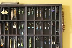 Printers Drawer Jewelry Display    (I am flea marketing and making one for myself!)