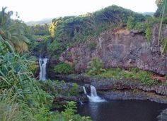 Maui's Seven Sacred Pools, also known as O'heo Gulch.