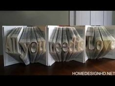 Amazingly Creative Sculptures On Folded Book Paper Art - YouTube