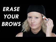 How to Erase Your Eyebrows With a Glue Stick | Beauty Junkie - YouTube