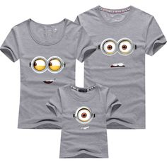 Fashion Family Matching Clothes Minions T Shirts Matching Mother Daughter Family…