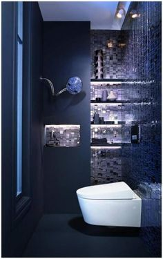 1000 Ideas About Dark Blue Bathrooms On Pinterest Blue