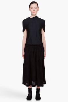 COMME DES GARÇONS Hooded Black Dress