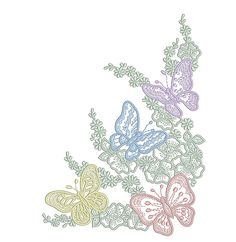 Machine Embroidery Design - Multicolored butterflies - 3 sizes