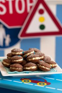 Cars, boats, planes and trains party: Chocolate is always a winning flavour at parties and these chocolate whoopie pies will be a winning treat with little ones.