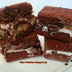 S'mores Sandwiched Milo Brownie! | Delishar - Singapore Cooking Blog