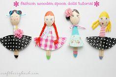 Fashion wooden spoon dolls by Craftberry Bush Skip To My Lou