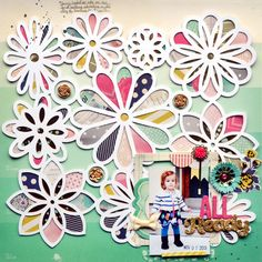 #papercraft #scrapbook #layout  The One with January 2014 American Crafts Layouts