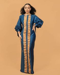 Latest African Fashion Dresses, African Dresses For Women, African Attire, African Inspired Fashion, African Print Fashion, Lace Gown Styles, Hijab Fashion Inspiration, Classy Dress, Kaftan