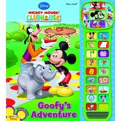 Mickey Mouse Clubhouse Video Play-a-Sound Book Mickey Mouse Clubhouse Videos, Minnie Mouse, Advent, Skills To Learn, Learning Skills, Mickey Mouse Wallpaper, Disney Toys, Zoo Animals, Birthday Invitations