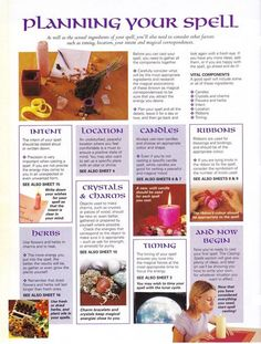 Planning your Spell Mind body spirit collection / spells 6