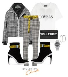 Untitled #42 by icatchdreams on Polyvore featuring polyvore, fashion, style, Off-White, Rolex, AMIRI and clothing
