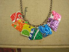 7 Pieces of 8 Necklace. DOUBLEsided and Embossed. by jillmccp