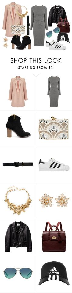 """day & night"" by dinasaurrr on Polyvore featuring Miss Selfridge, Whistles, KOTUR, Lauren Ralph Lauren, adidas, Oscar de la Renta, Mulberry, Tiffany & Co., women's clothing and women"