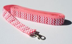 Pink Chevron Dog Leash by CookiesDogHouse on Etsy