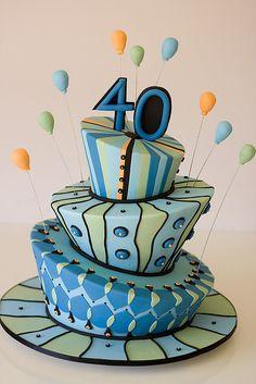Happy birthday cake mad hatter birthday birthday cakes for men cake cake birthday happy . 40th Birthday Cakes For Men, Happy 40th Birthday, Fabulous Birthday, 40th Birthday Parties, Man Birthday, Balloon Birthday, Funny Birthday, Birthday Ideas, Birthday Cake Decorating