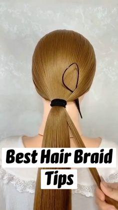 Hairdo For Long Hair, Easy Hairstyles For Long Hair, Up Hairstyles, Braided Hairstyles, Haircuts, Hair Ponytail Styles, Curly Hair Styles, Hair Tutorials For Medium Hair, Hair Upstyles