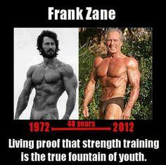 Frank zane-never give up