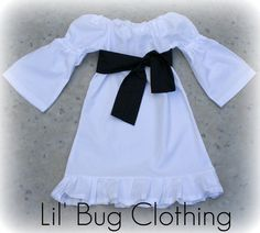 Custom Boutique White Peasant Dress