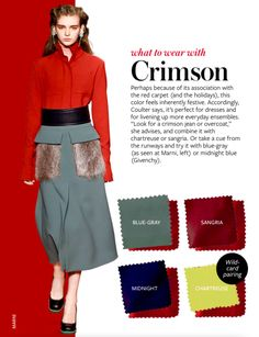 What to wear with CRIMSON