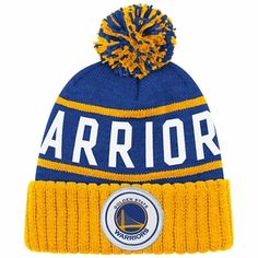 Golden State Warriors Mitchell   Ness High 5 Cuffed Knit Primary Logo Hat -  Royal  d670f4709a57