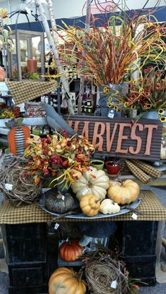 Fall Display - Watertown Store Displays, Autumn Displays, Wreaths, Table Decorations, Autumnal, Halloween, Fall, Windows, Home Decor