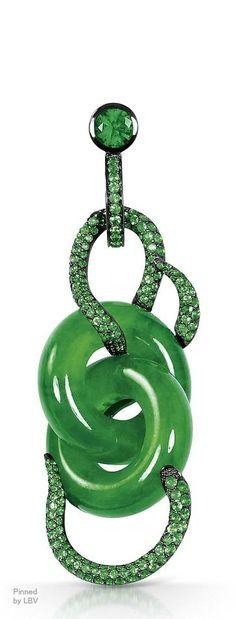 Emerald, diamond and beauty bling jewelry fashion