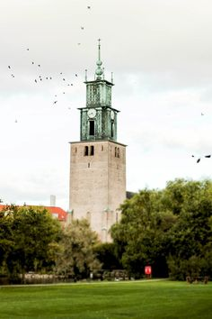 Aalborg - Denmark, my brother almost drowned in the lake by this church when we were small kids. Kingdom Of Denmark, Visit Denmark, Scandinavian Countries, Aalborg, Odense, Aarhus, Copenhagen Denmark, Faroe Islands, Summer Travel