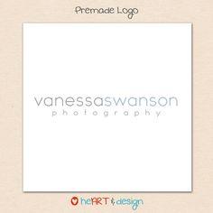 Premade Photography Logo Design - no.01. $12.00, via Etsy.