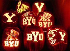 It is not too early to get your licensed, hand carved BYU foam pumpkin.  They are a great gift that will last for years.