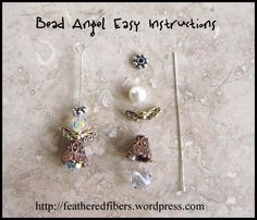 Angel Bead Tutorial | Feathered Fibers