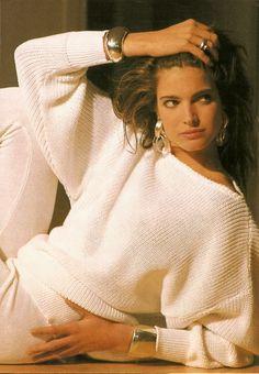 "Stephanie Seymour ""Confort Et Seduction"", Elle France, January 1987 90s Fashion, Paris Fashion, Fashion Models, Fashion Beauty, Winter Fashion, Fashion Outfits, Fashion Tips, Fashion Trends, Stephanie Seymour"