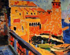 Oil Painting by Andre Derain French Artist Le Phare de Collioure, 1905 Andre Derain, Paul Cezanne, Henri Matisse, Raoul Dufy, Georges Braque, Lovers Pics, Lovers Art, Vincent Van Gogh, Fauvism Art