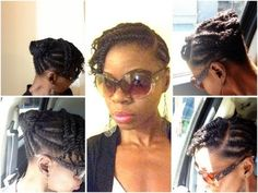 Flat Twist Updo. I did not start the Flat Twists with Marley hair in this video. I added Marley hair at the ends of the Flat twists.