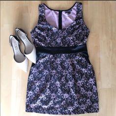 Blush Pink And Black Lace Dress