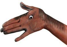Horse Hand Art By Emma Cammack