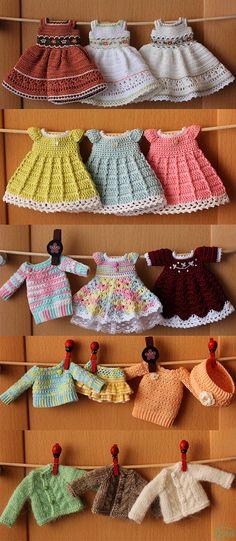 Vestidos de muñecas a ganchillo //Doll dresses | por Ulanna