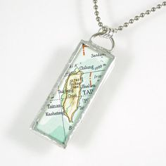 Taiwan Map Pendant by XOHandworks $20. Love this and want one from a zillion places!