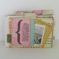 Mini File Folder Album Book