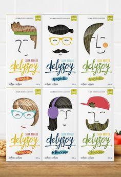 Delysoy by Bunker Graphic Design Kids Packaging, Food Packaging Design, Print Packaging, Packaging Design Inspiration, Graphic Design Inspiration, Graphic Design Portfolio Examples, Graphic Design Projects, Graphic Design Posters, Label Design