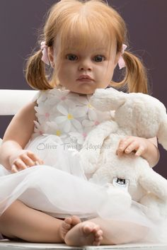 Reborn toddler baby doll Tatianna is for sale at  Www.olivertwistadoptions